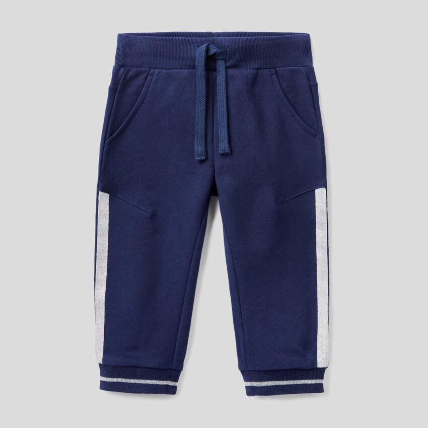 Sweatpants with lurex details