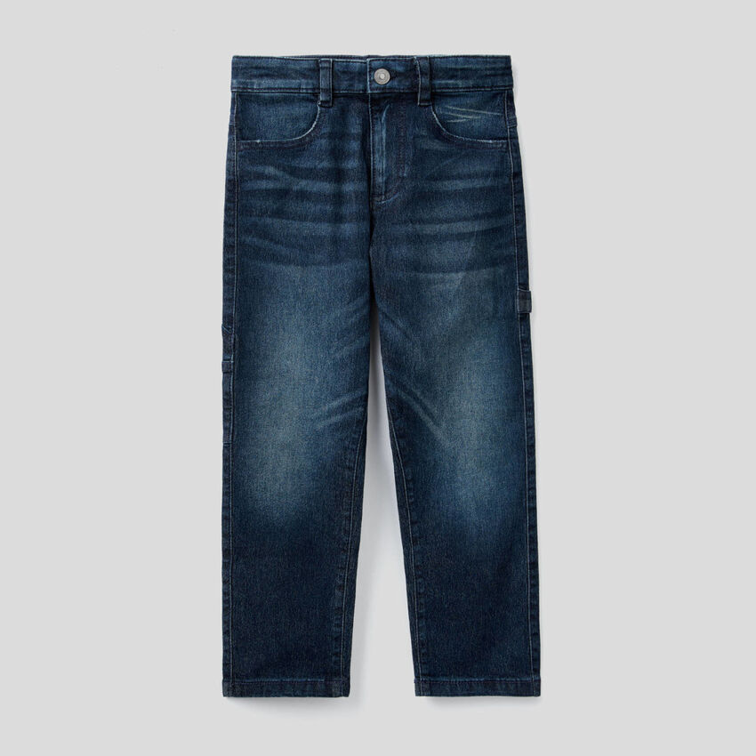 Jeans with workwear style details