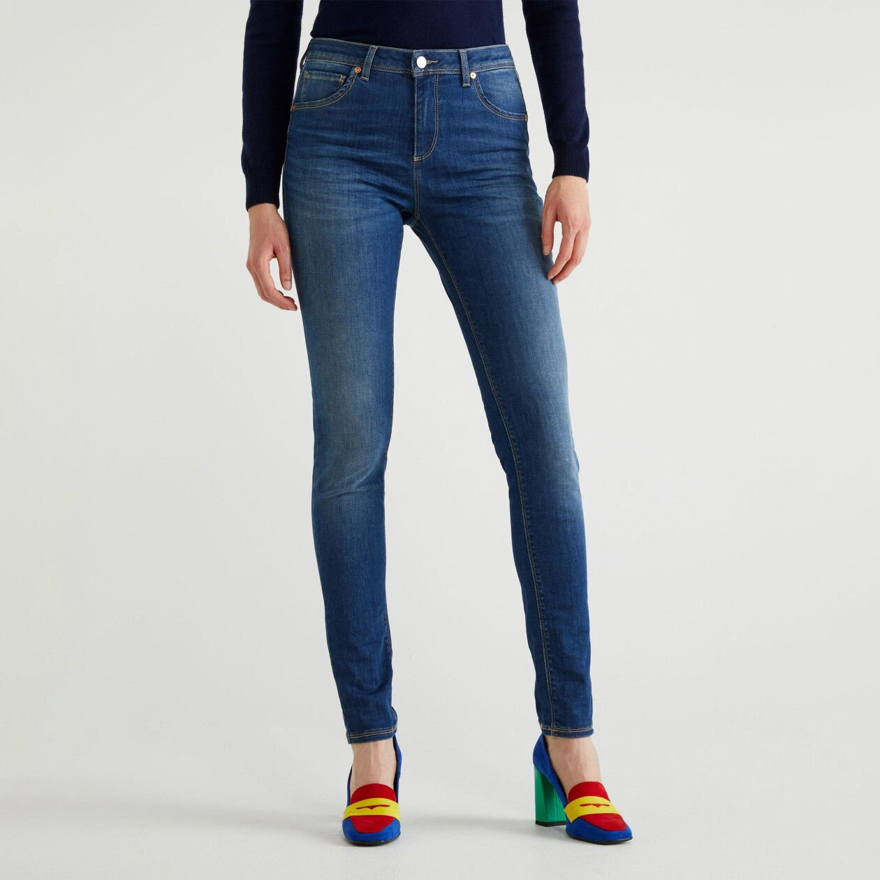 Skinny fit push up jeans