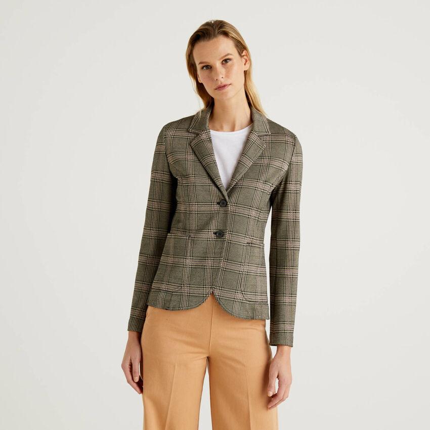 Prince of Wales pattern blazer