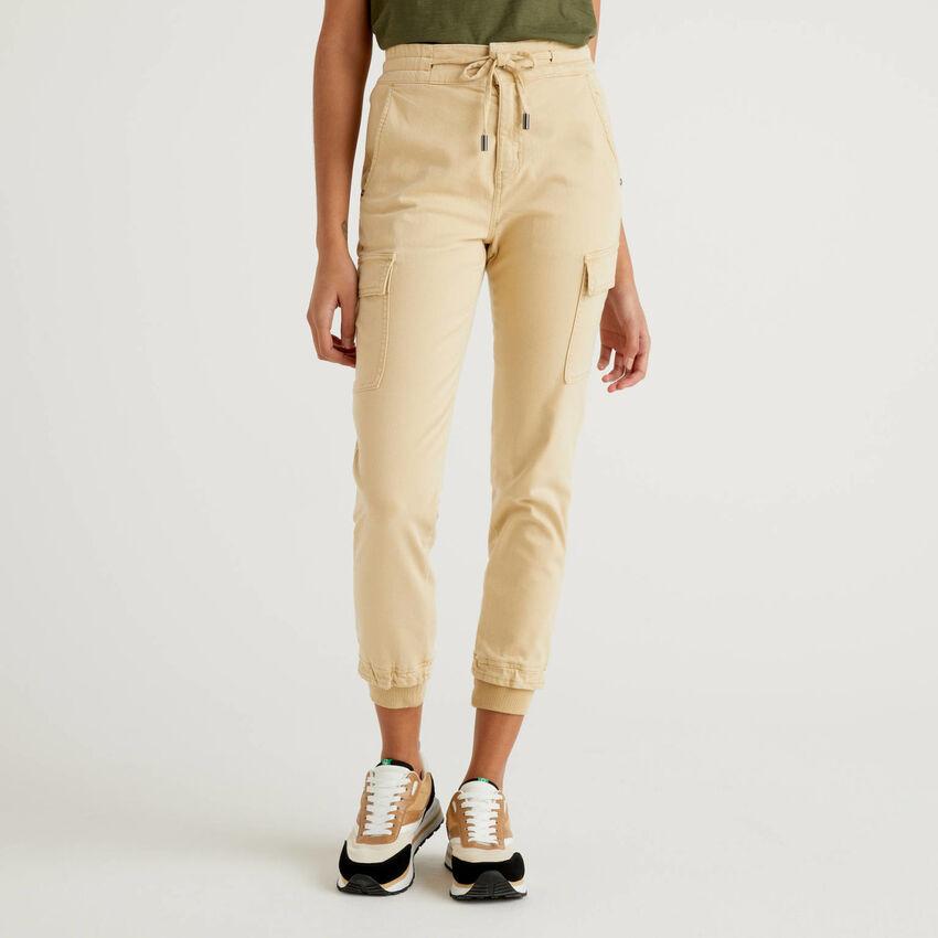 Slim fit cargos in stretch cotton
