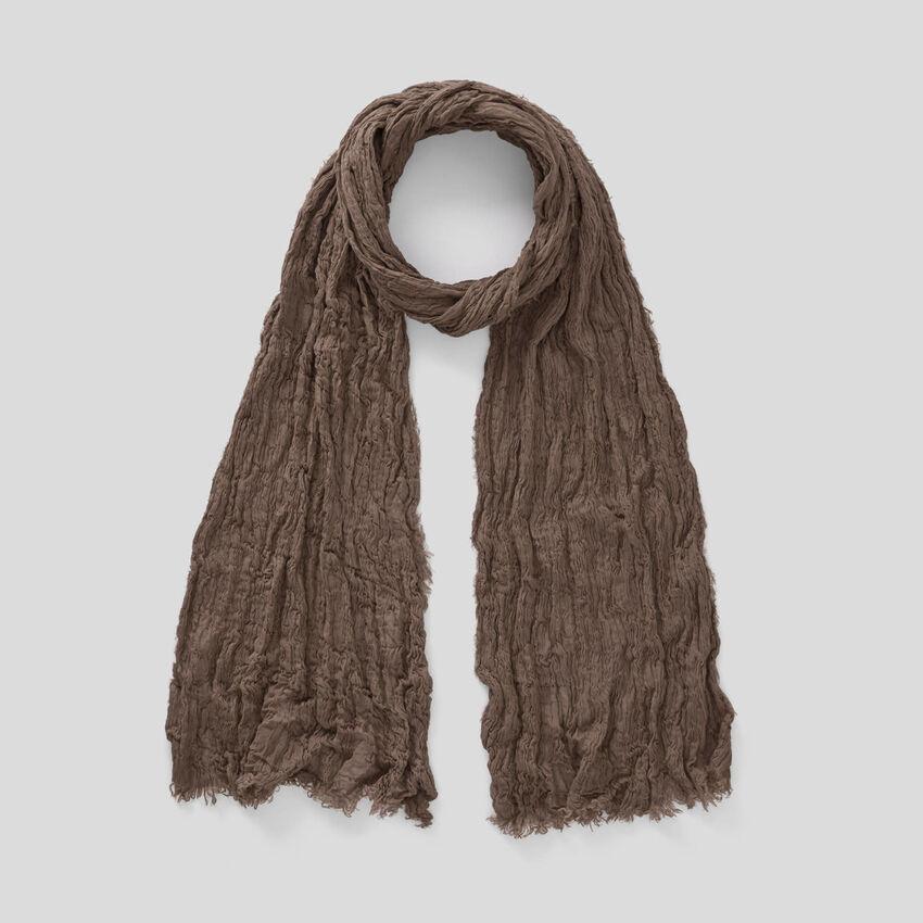 Crumpled look scarf