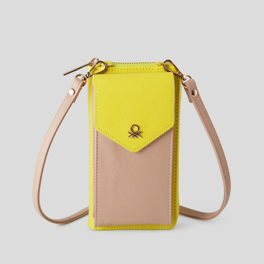 Wallet with crossbody strap