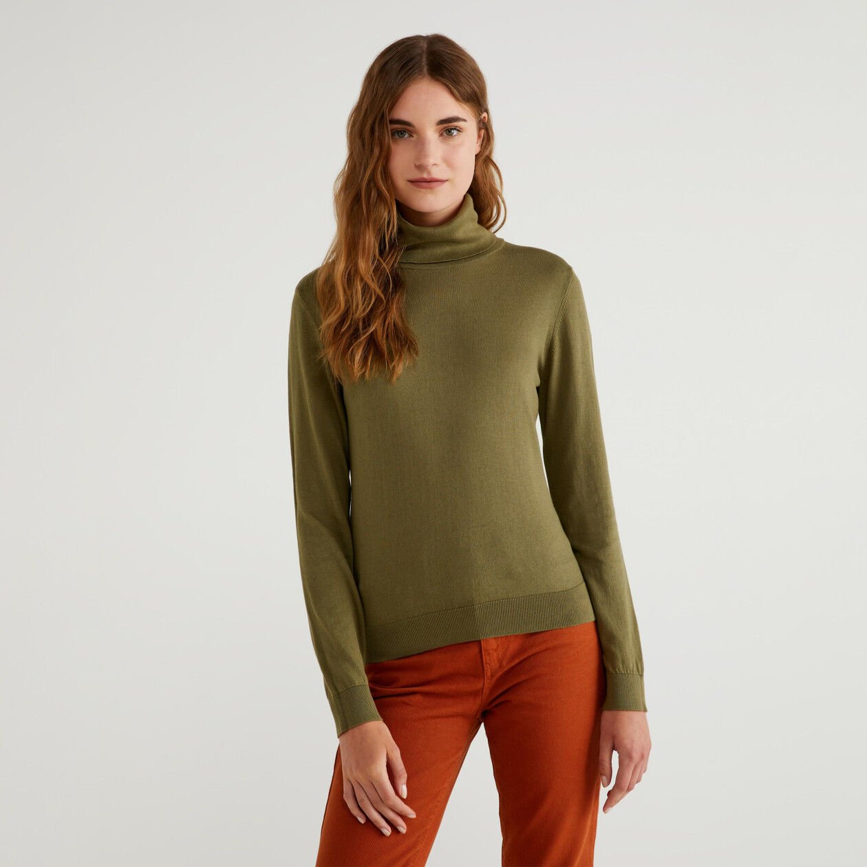 Turtleneck in cotton and Modal®