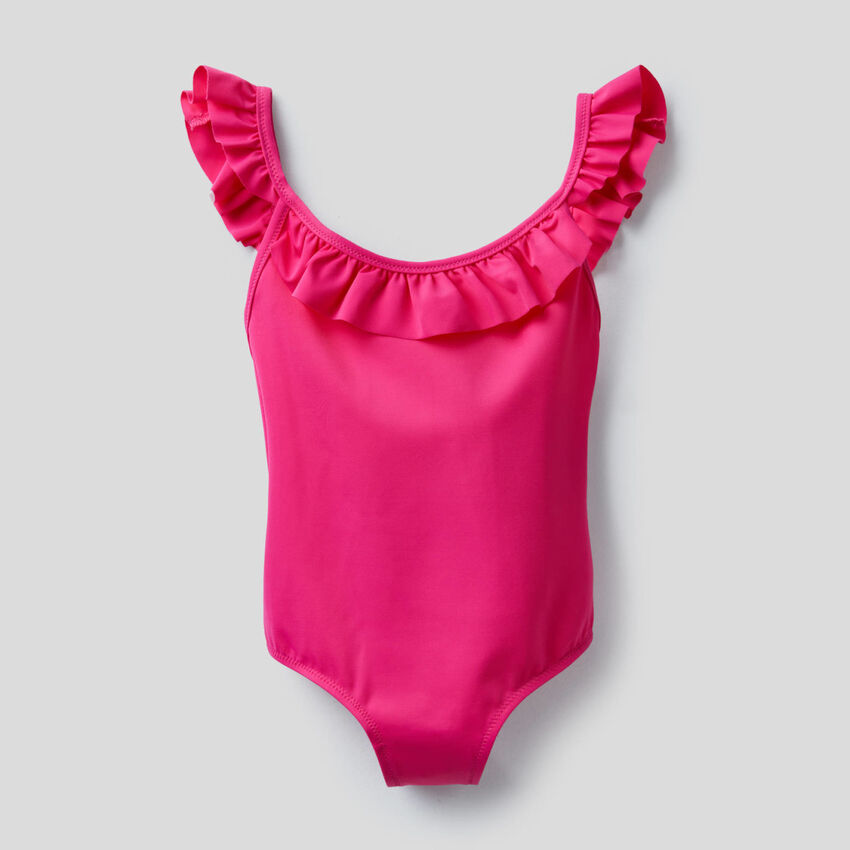 Swimsuit in ECONYL® with frills