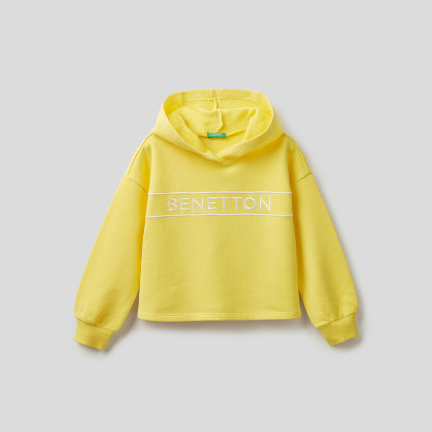 Sweatshirt in cotton with embroidered logo