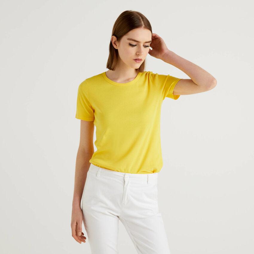 Long fiber cotton t-shirt
