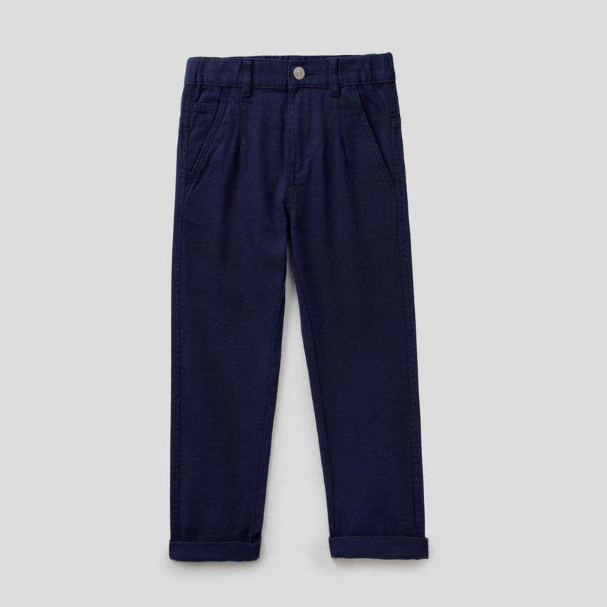 Loose fit jeans in organic cotton