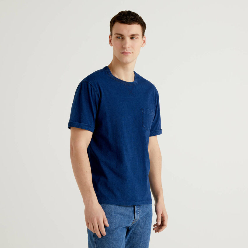 T-shirt in 100% cotton with worn look