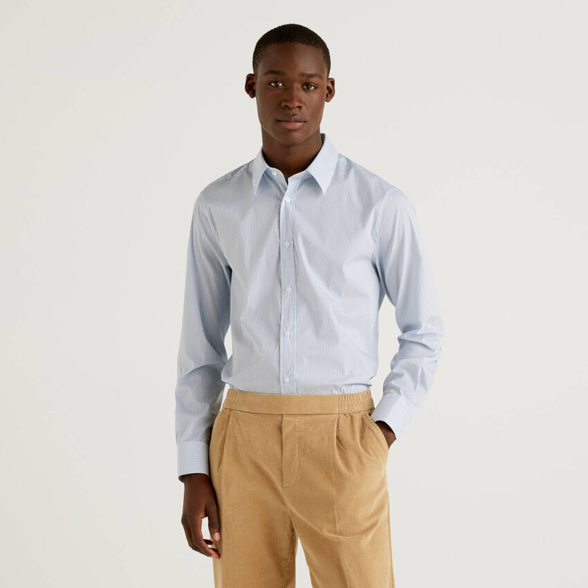 Shirt in stretch cotton