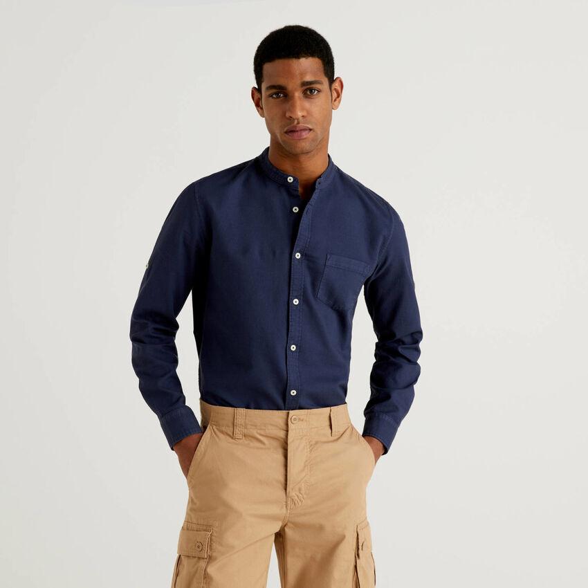 Slim fit shirt with Mandarin collar