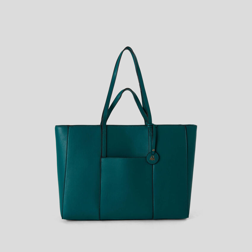 Shopping bag with double handle