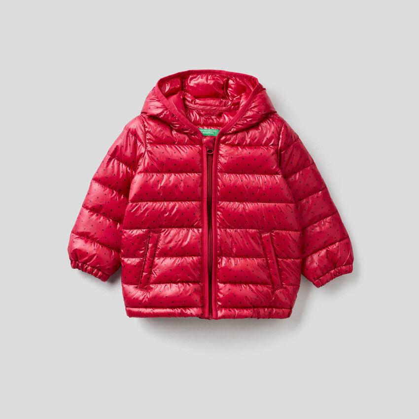 Pattern print padded jacket