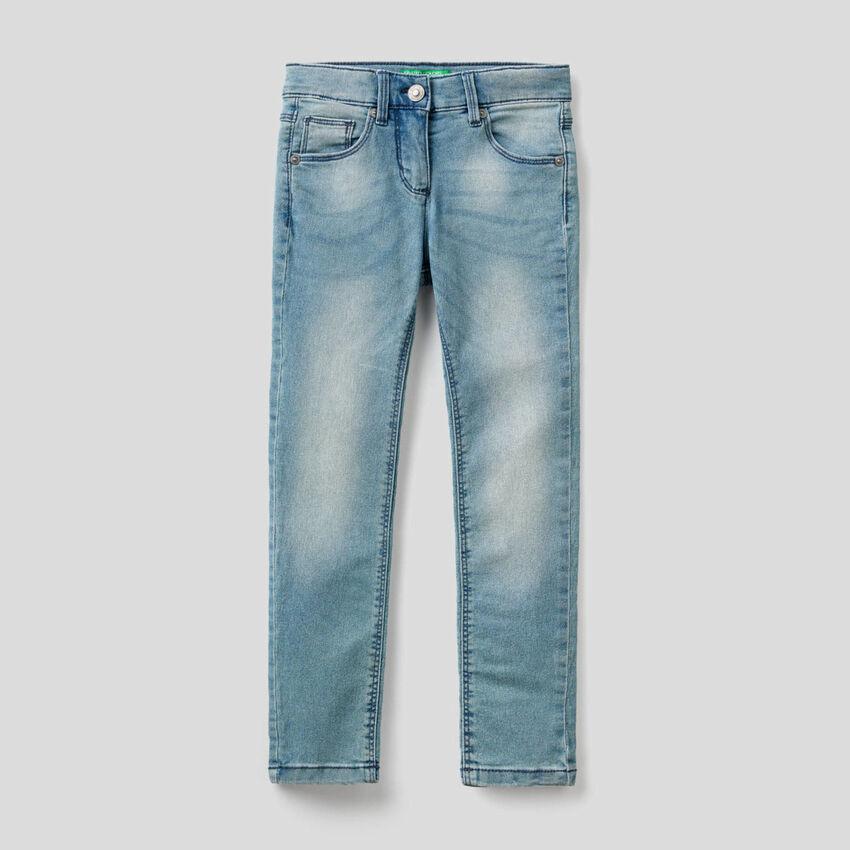 Worn look skinny fit jeans