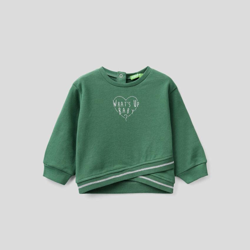 Sweatshirt with crisscross detail