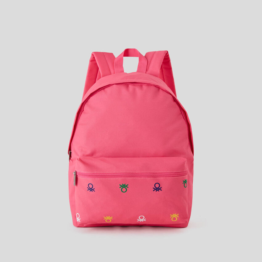 Backpack with logo print