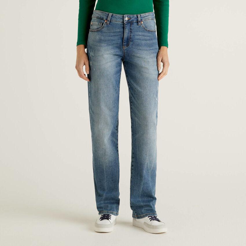 Slim fit straight leg jeans