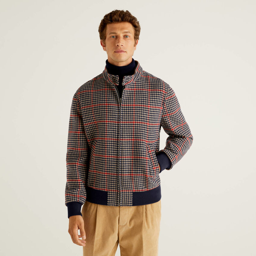 Check pattern jacket