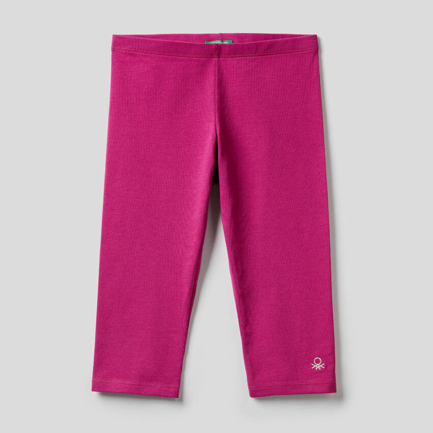 3/4 leggings in stretch cotton