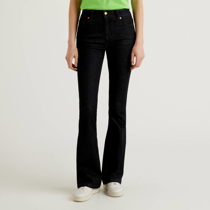 Stretch flared jeans