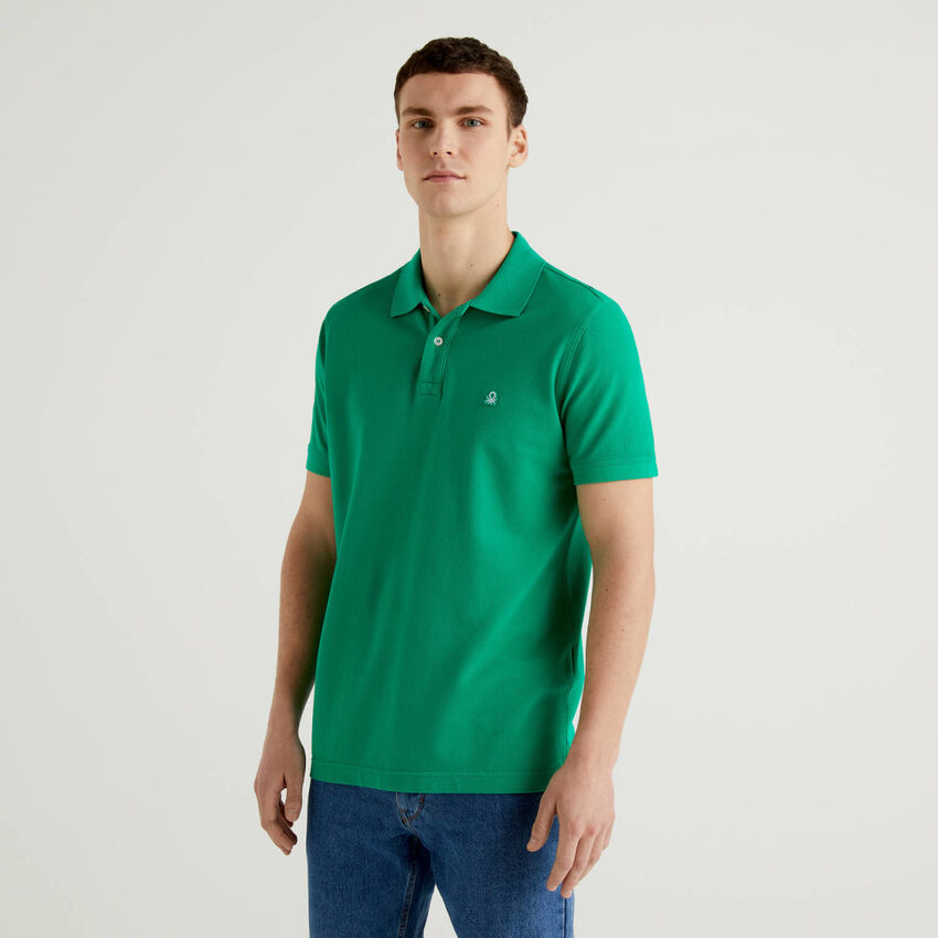 Regular fit green polo