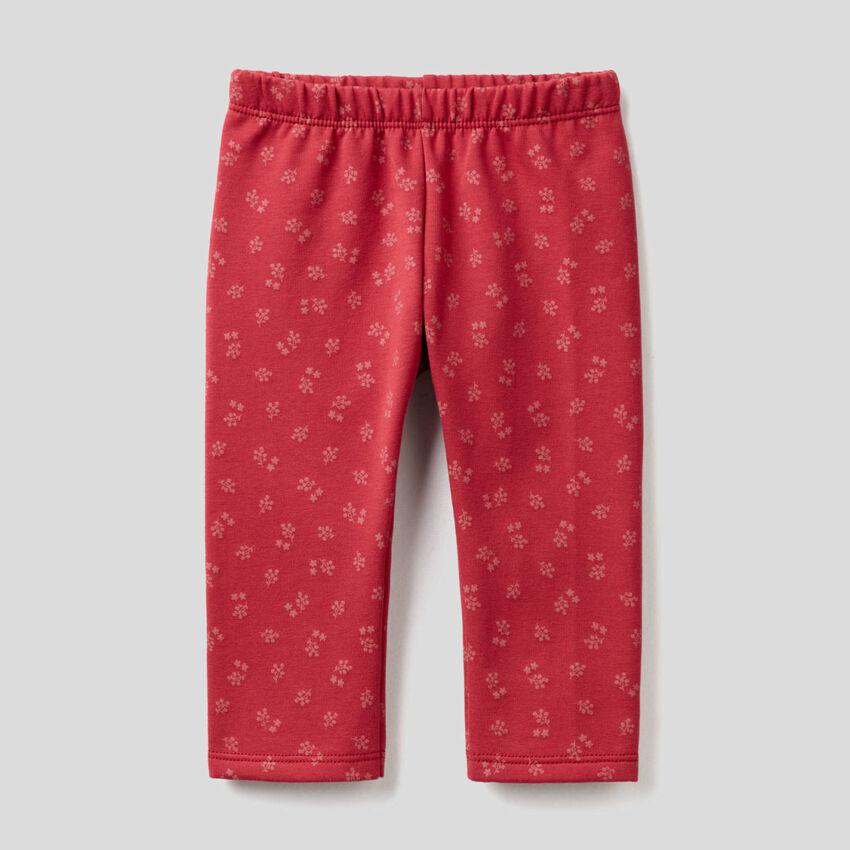 Patterned sweat leggings