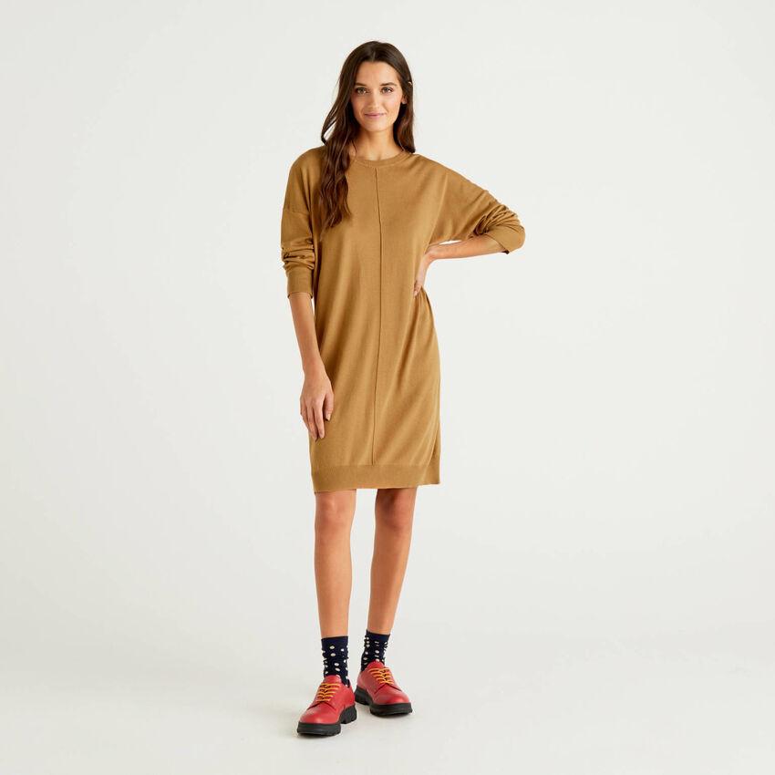 Long sleeve knit dress