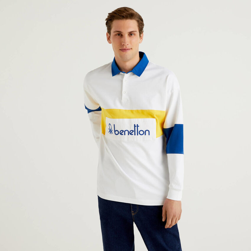Rugby polo in organic cotton