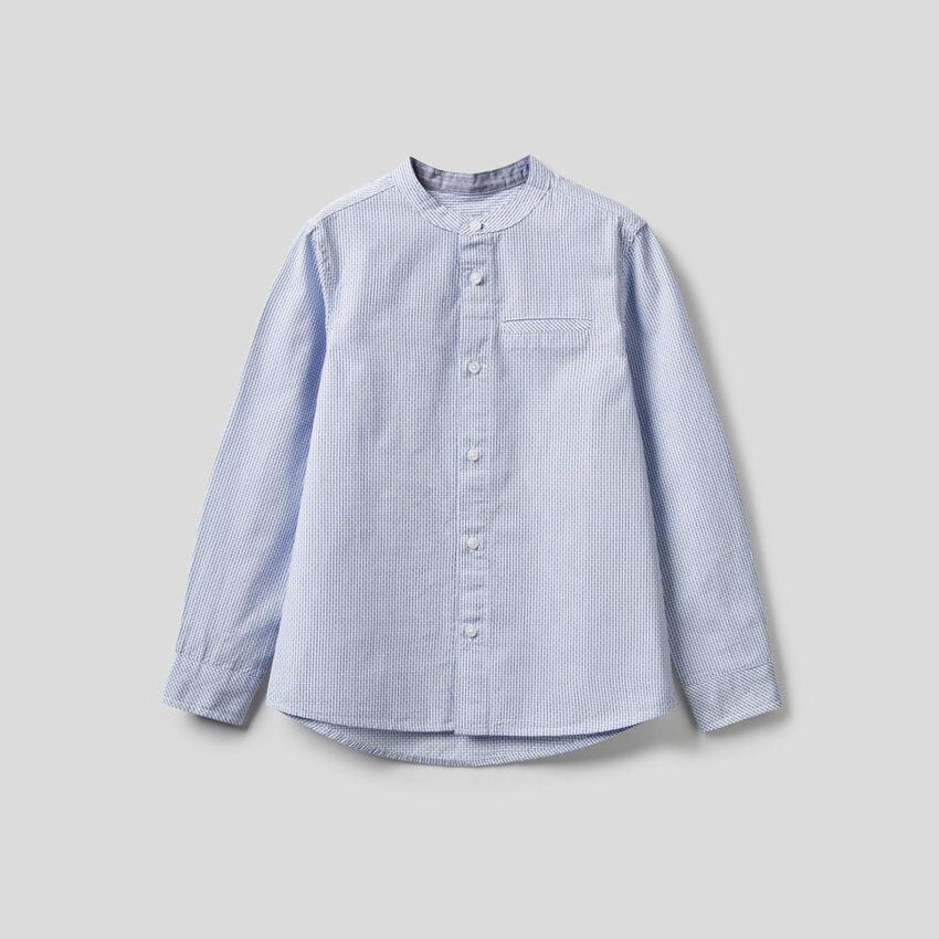 100% cotton Mandarin collar shirt
