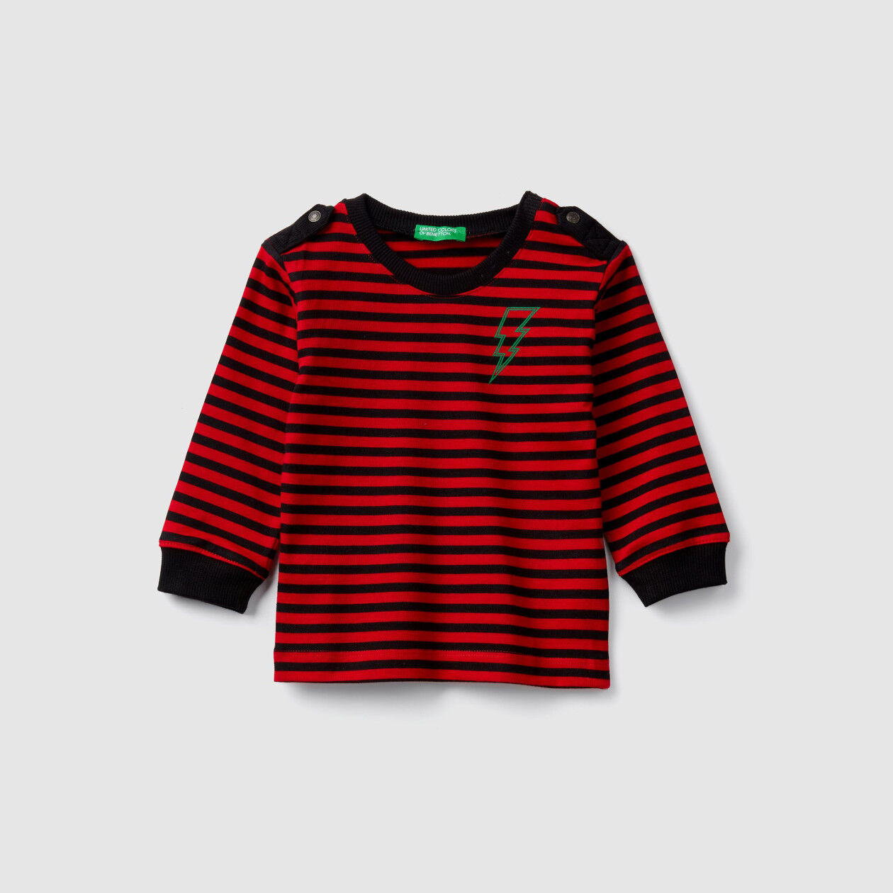 Striped t-shirt with tabs