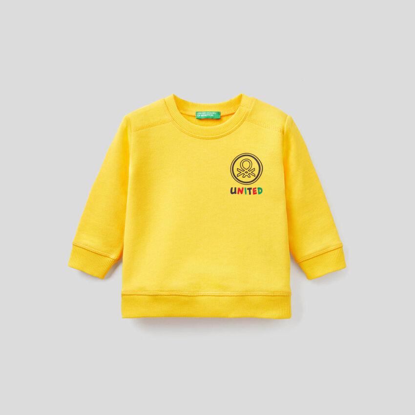 Sweatshirt in 100% organic cotton