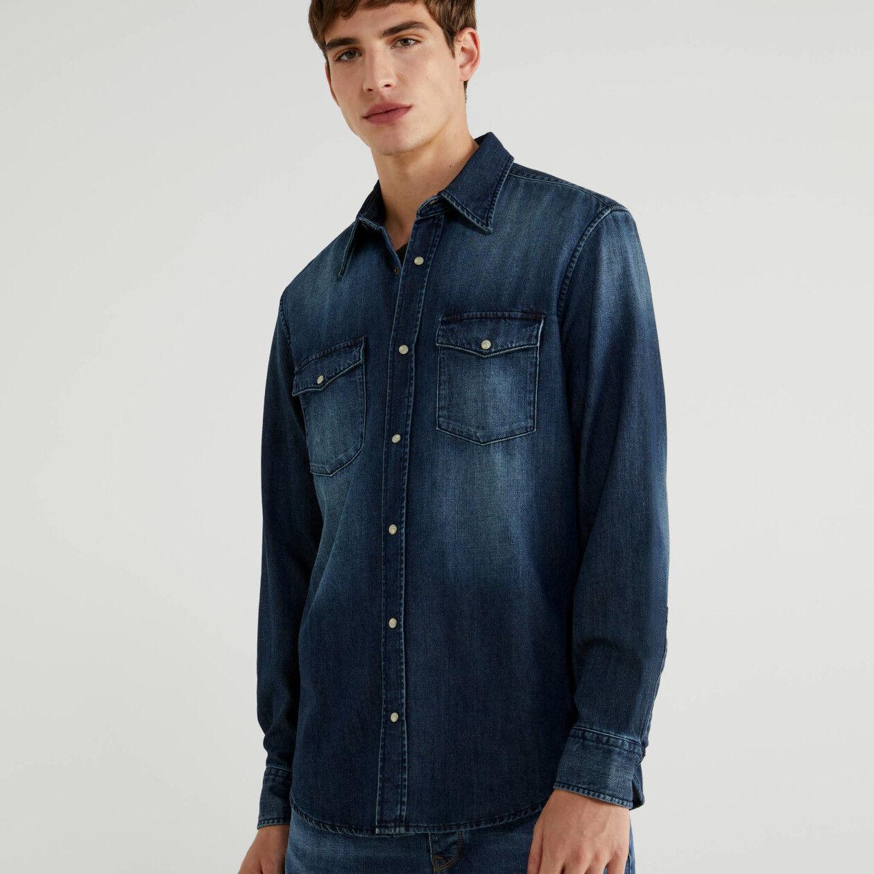 Regular fit denim shirt