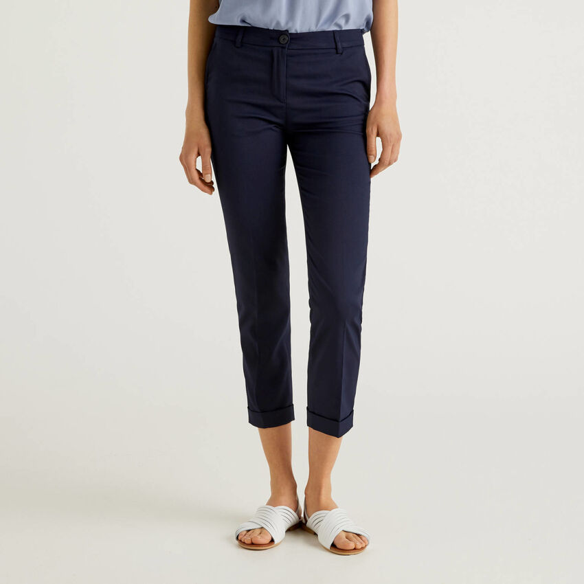 Trousers in stretch cotton