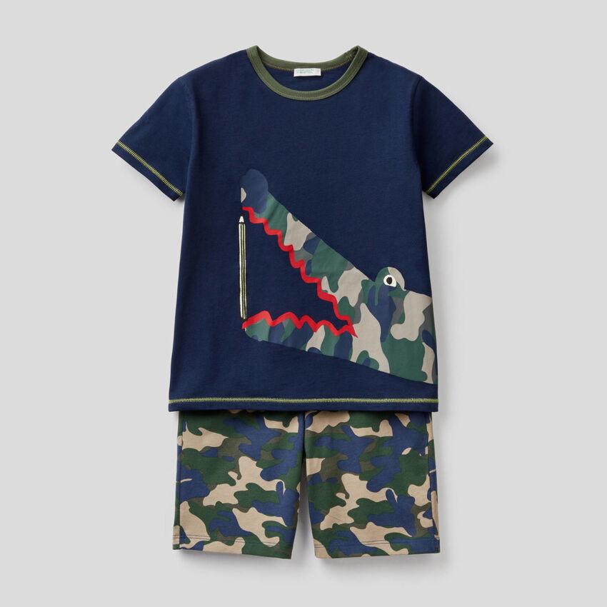 Short pyjamas in 100% cotton
