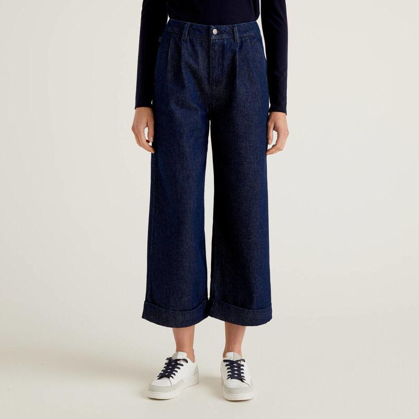 Culotte model denim trousers