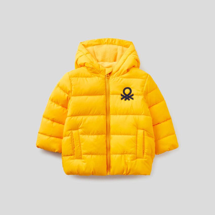 Yarn dyed jacket with hood